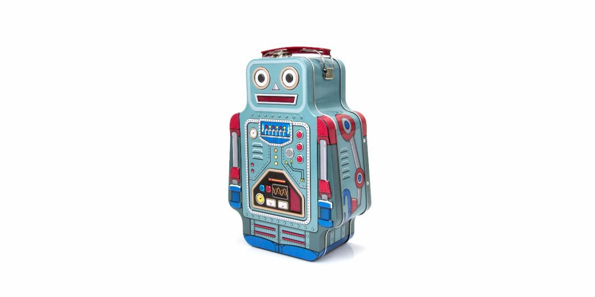 Tin Robot Lunch Box