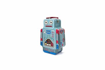 Tin Robot Lunch Box Standing Up