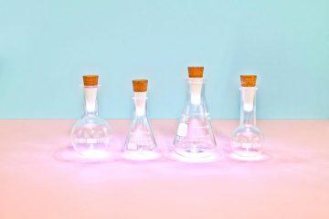Line of bottles with Bottle Light