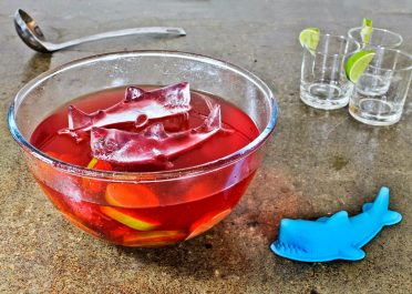 3D Shark Ice Mould In Drink Bowl