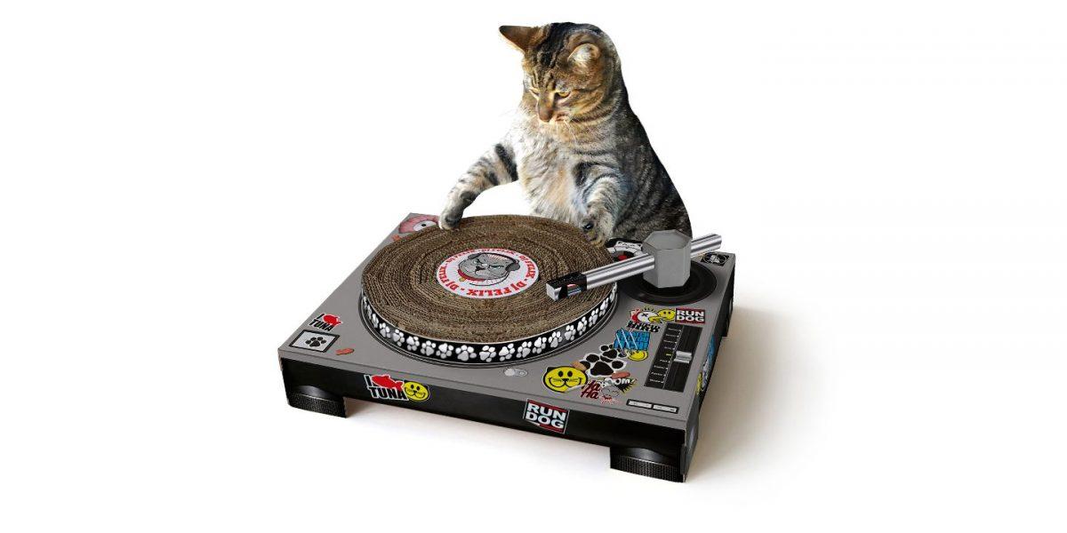 DJ Turntable Cat Scratch